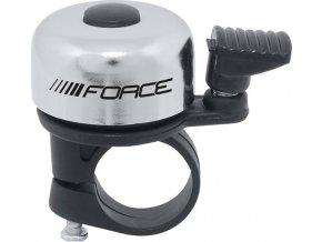 zvonek F MINI Fe/plast 22,2mm paličkový, stříbrný