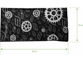 šátek multifunkční FORCE jaro/podzim, černý, UNI