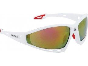 brýle FORCE PRO bílé, červená skla