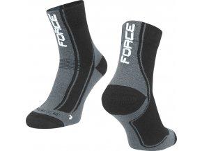 ponožky FORCE FREEZE, černo-šedo-bílé