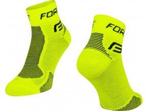 ponožky FORCE 1, fluo-černé