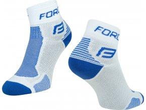 ponožky FORCE 1, bílo-modré
