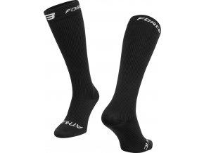 ponožky FORCE ATHLETIC KOMPRESNÍ, černé