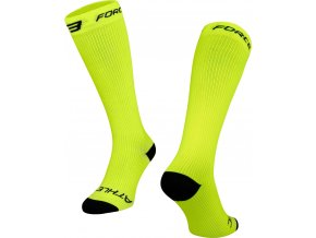 ponožky FORCE ATHLETIC KOMPRESNÍ, fluo