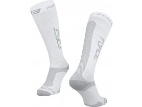 ponožky F ATHLETIC PRO KOMPRES, bílo-šedé