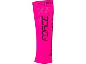 ponožky-kompresní návleky FORCE, růžovo-černé