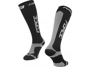 ponožky F ATHLETIC PRO KOMPRES, černo-bílé