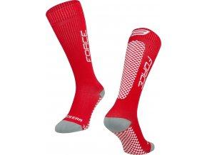 ponožky FORCE TESSERA KOMPRESNÍ,červené
