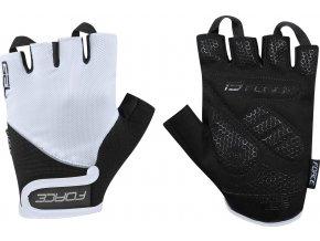 rukavice FORCE GEL , bílo-černé