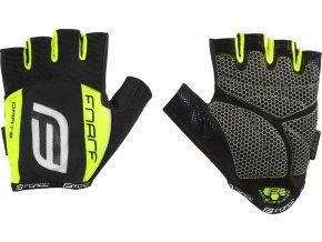 rukavice F DARTS  gel bez zapínání, černo-fluo