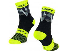 ponožky FORCE TRIANGLE, černo-fluo-šedé