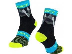 ponožky FORCE TRIANGLE,černo-fluo-modré