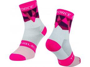 ponožky F TRIANGLE, bílo-růžové