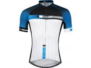 dres FORCE DASH krátký rukáv,modro-černo-bílý