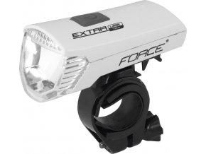 světlo přední FORCE EXTRA USB 1 dioda, bílé
