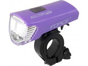 světlo přední FORCE EXTRA 70LM USB, fialové