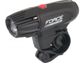 světlo přední FORCE SAM 330LM USB, černé