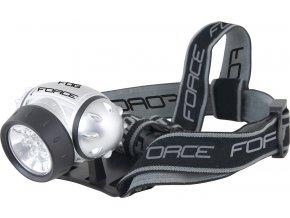 čelovka FORCE FOG 7 LED diod+baterie, stříbrná