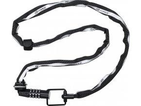 zámek FORCE MULTI řetězový kódový 120cm/4mm, černý