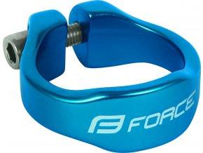 objímka sedlovky FORCE na inbus 34,9mm Al, modrá