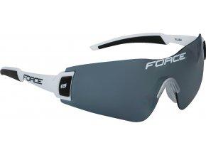 brýle FORCE FLASH, bílo-černé, černá skla