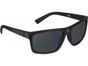 brýle FORCE CREW černé-matné, černá laser skla