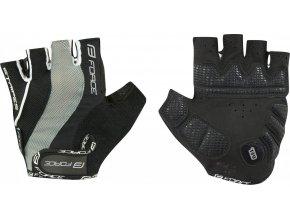 rukavice FORCE STRIPES gel, černé