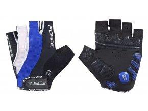 rukavice FORCE STRIPES gel, tmavě modré