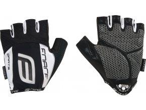 rukavice F DARTS  gel bez zapínání, černo-bílé