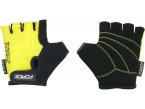 rukavice FORCE SHORTY dětské, žluté