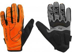 rukavice F MTB SPID 16  bez zapínání, oranžová