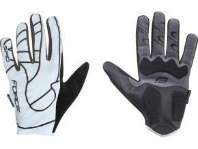 rukavice F MTB SPID 16 bez zapínání, bílé