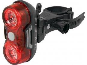 blikačka zadní FORCE OPTIC 8LM 2x LED+baterie