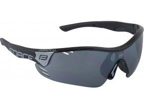 brýle FORCE RACE PRO černé, černá laser skla