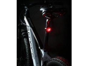 blikačka zadní FORCE CRYSTAL 30LM, 3x LED, baterie