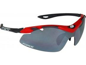 brýle FORCE DUKE červeno-černé, černá laser skla