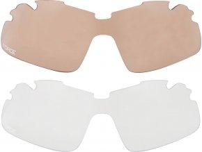 brýle FORCE DUKE černé, černá laser skla