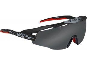 brýle FORCE EVEREST, černé mat, černé skla