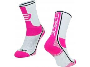 ponožky F LONG PLUS, růžovo-černo-bílé