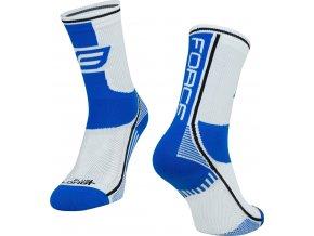 ponožky F LONG PLUS, modro-černo-bílé