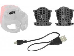 blikačka zadní FORCE CRYSTAL 30LM, 3x LED, USB