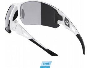 brýle FORCE CALIBRE bílé, černá laser skla