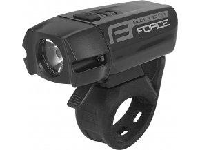 světlo přední FORCE BUG 400LM USB, černé