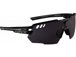 brýle FORCE AMOLEDO, černo-šedé, černé skla