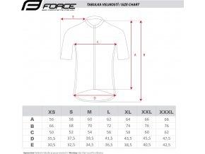 dres FORCE T12 krátký rukáv, černo-bílý