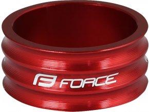 """podložka FORCE 1 1/8"""" AHEAD 15 mm Al, červená"""