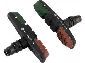 gumičky brzd F výměnné, zeleno-černo-hnědé 70mm