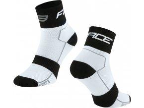 ponožky FORCE SPORT 3, bílo-černé