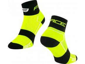 ponožky FORCE SPORT 3, fluo-černé
