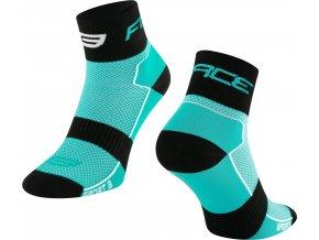 ponožky FORCE SPORT 3, tyrkysovo-černé
